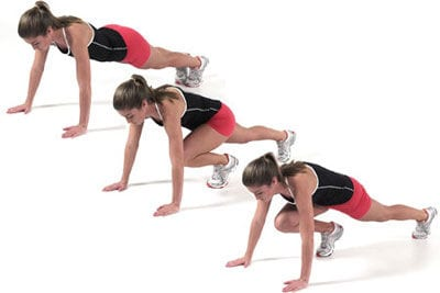 Exercises to do at home: mountain climbers