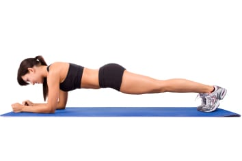 Exercises to do at home: plank