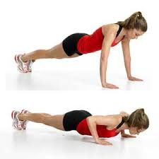 Exercises to do at home: push ups