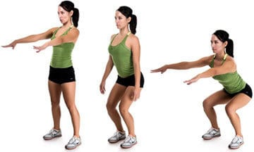 Exercises to do at home: squats