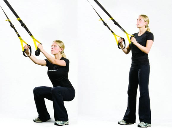 TRX assisted squats