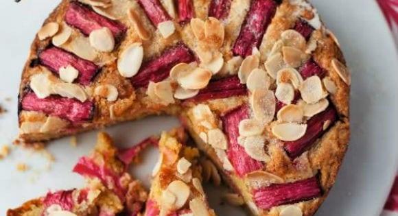 Protein Rhubarb Cake