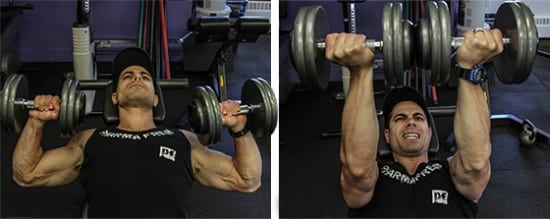 Twisting Dumbbells Bench Press