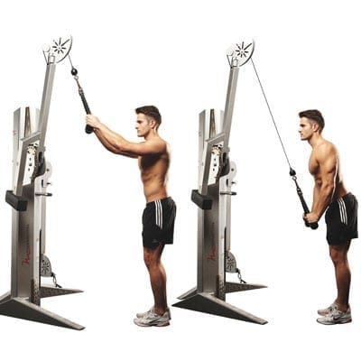 Rope tricep pushdown