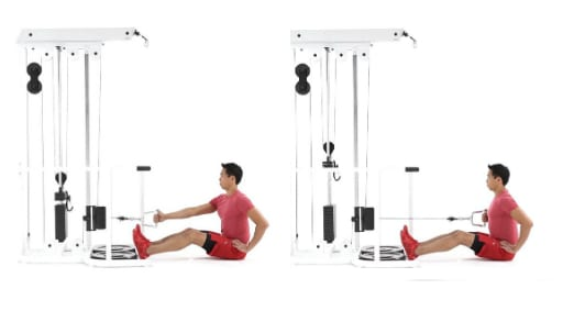 Single arm cable row