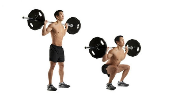 weighted back squat