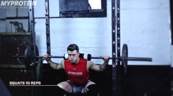 Myprotein Harrison Twins Squats Leg workout