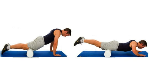 quad foam rolling exercise