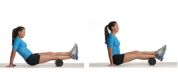 calf muscles foam rolling