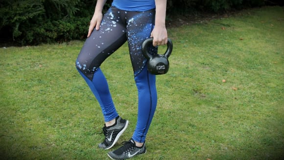 Myprotein leggings kettlebell workout