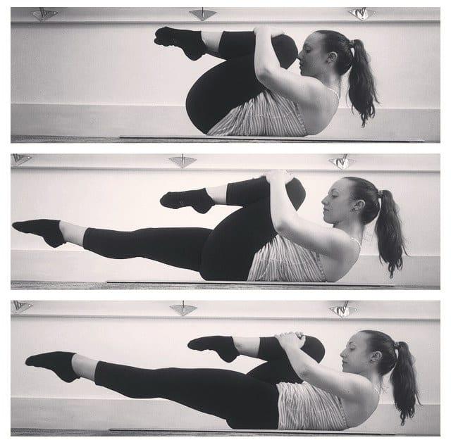 pilates single leg extension