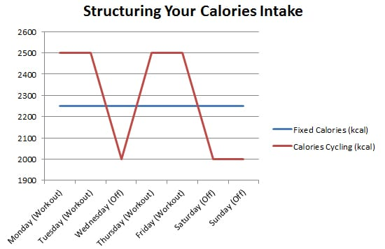 structuring your calories intake bulk and cut