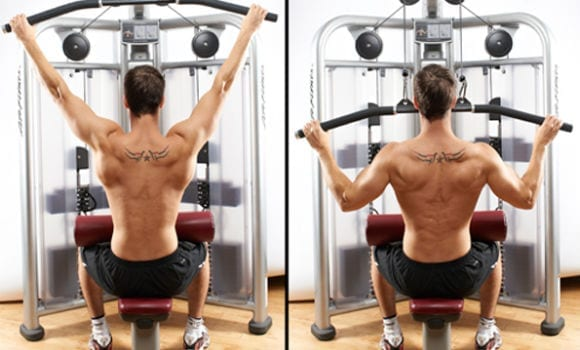 wide grip lat pull down