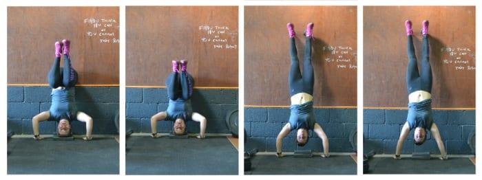 KIPPING handstand