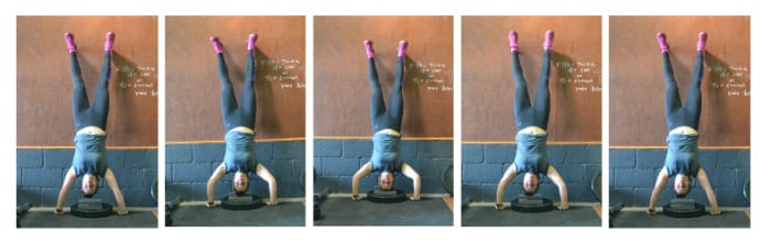 Strict handstand pushups
