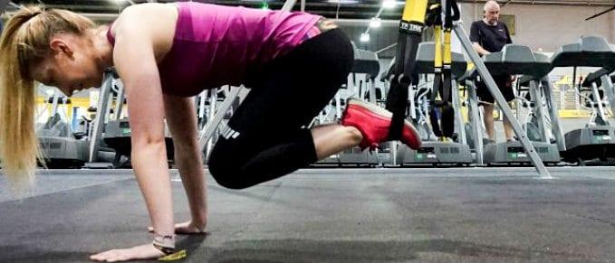 beth trueman trx core exercises strength crunches abs