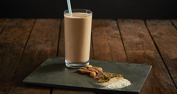 clean almond protein shake