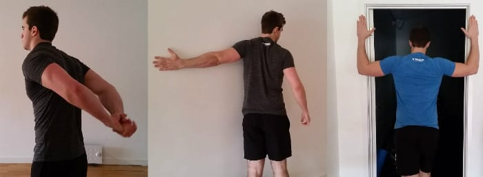 rounded shouder stretches postural problems