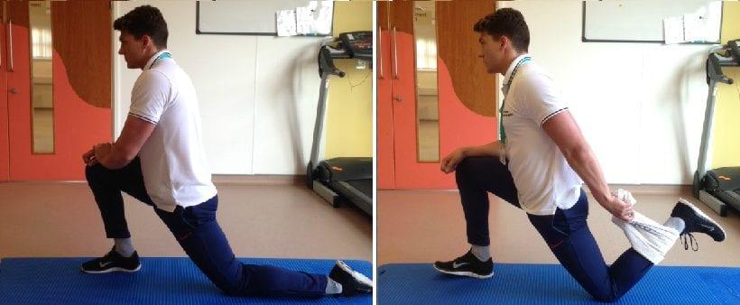 hip flexor stretch legs