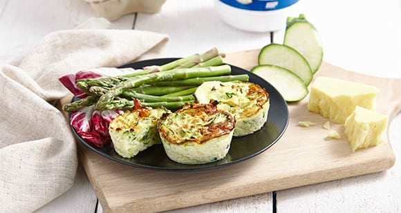 Healthy Lunch Recipe | Cheese & Courgette Muffins