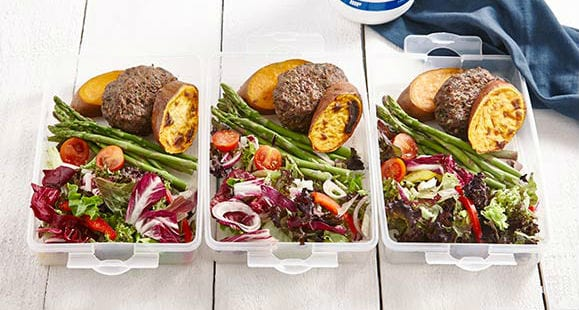 Healthy Meal Prep | Turkey Burger & Sweet Potato Recipe | Myprotein Video