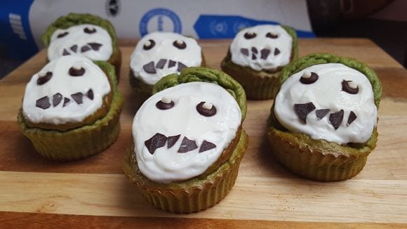 Healthy Halloween Muffin Recipe | Scary Protein Muffins