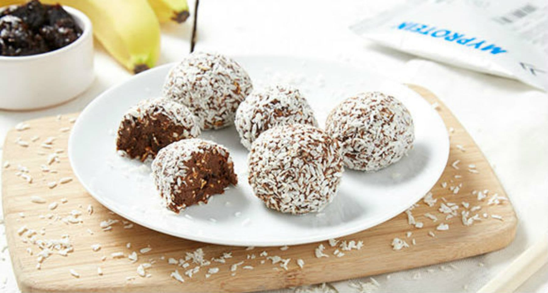Coconut & Whey Protein Balls | On The Go Snack