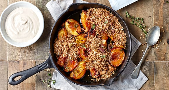Healthy Thyme Roasted Peach Crumble | Perfect Summer Peach