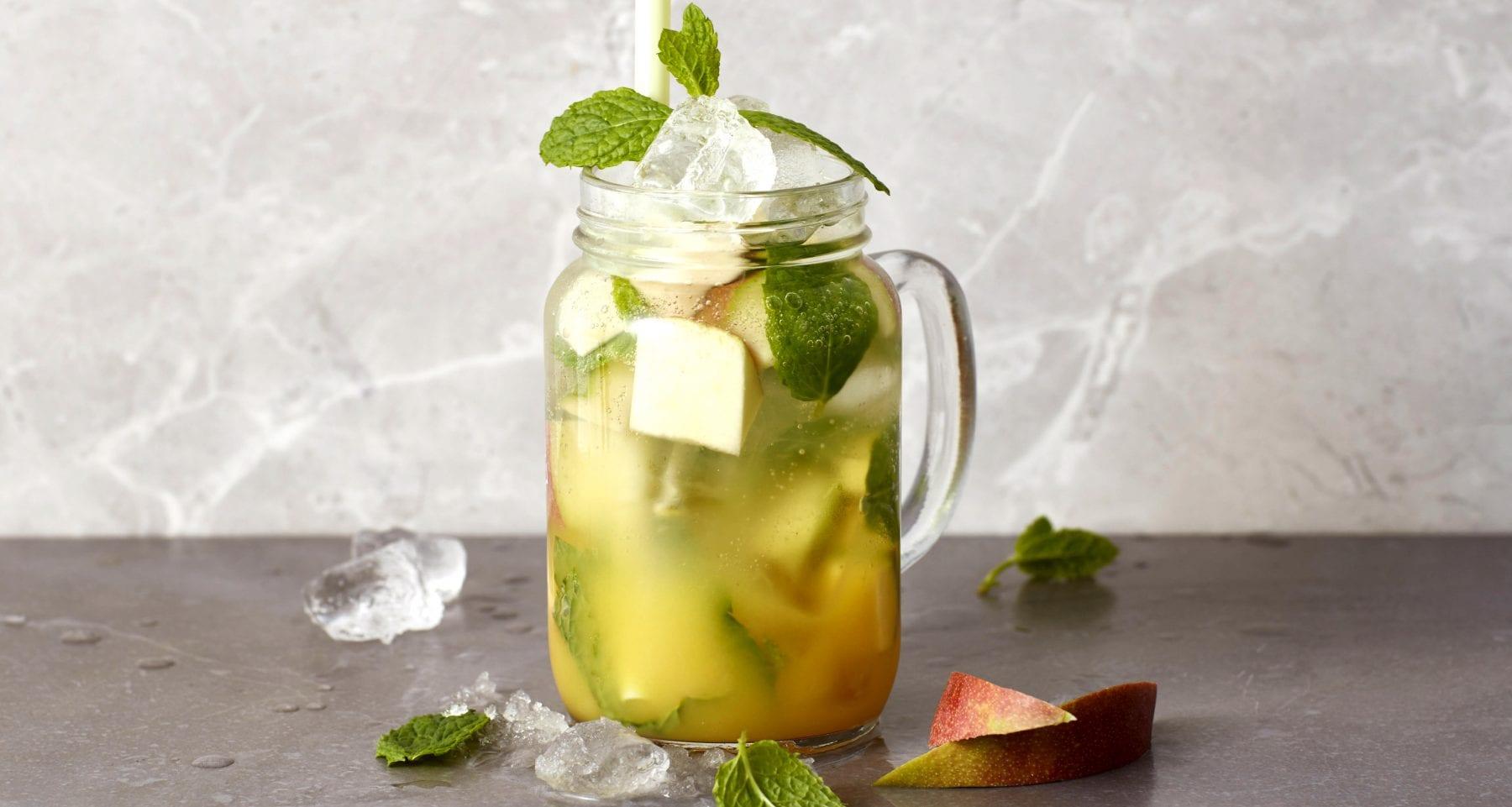 Peach-Mango BCAA Mojito Mocktail