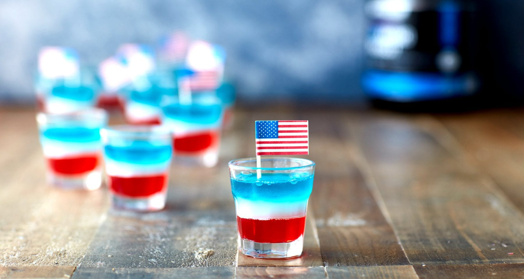 Independence Day Recipe | BCAA Flag Jelly Shots