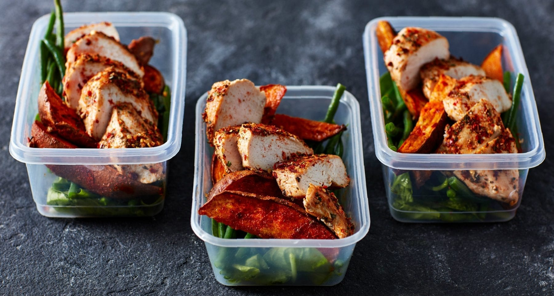 4 Day Meal Prep Idea | Chicken, Sweet Potato & Green Beans
