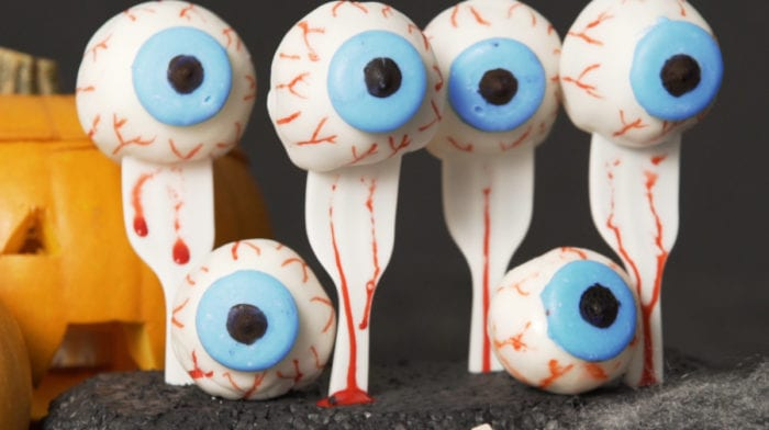 Halloween Recipe Ideas | Red Velvet Protein Eyeballs