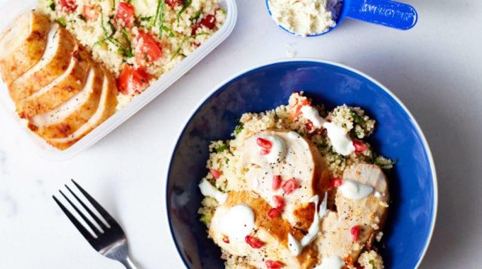 Chicken Meal Prep Recipes | 3-Day Harissa Chicken & Tabbouleh