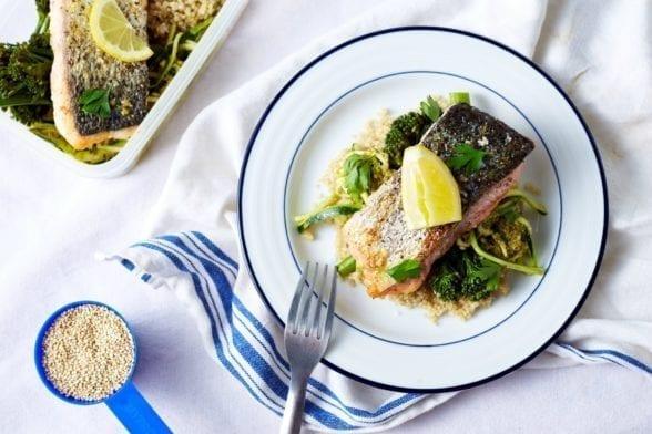 Salmon Meal Prep | Quick Spicy Cajun Salmon & Garlicky Veg