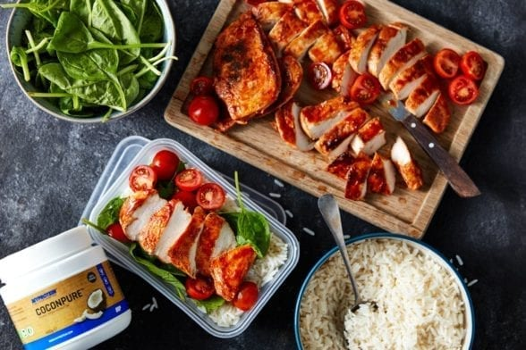 Chicken Meal Prep | Barbecue Chicken & Rice