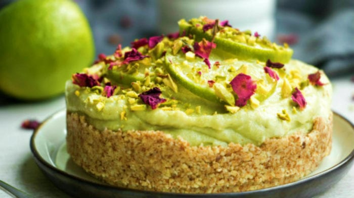 Avocado Lime Cheesecake | No-Bake Vegan Cheesecake