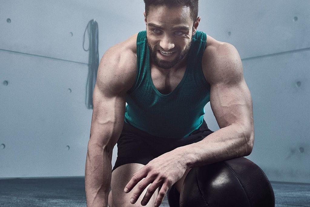 man in gym kit