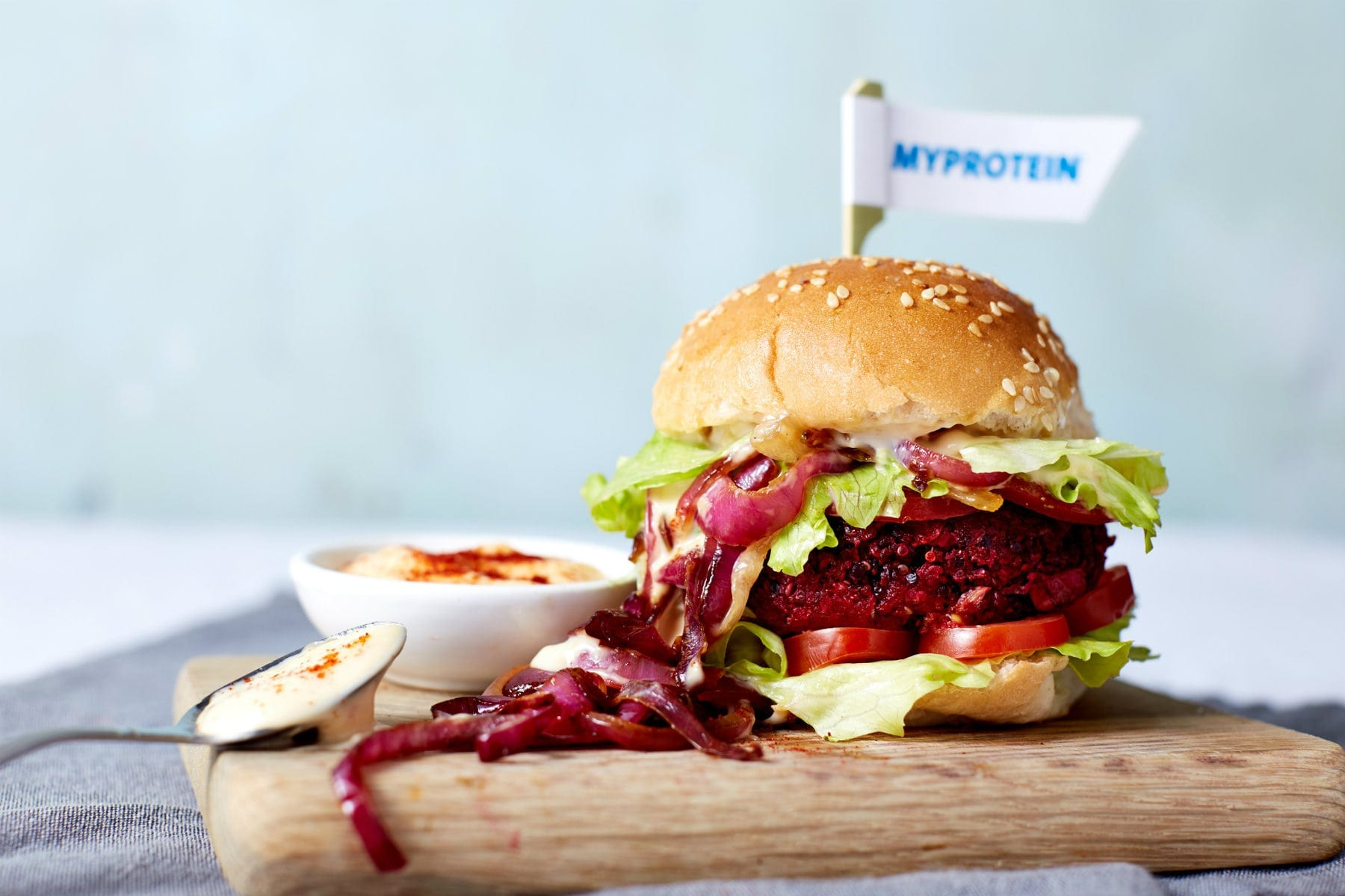 Vegan beetroot burgers