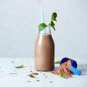 mint choc chip protein smoothie