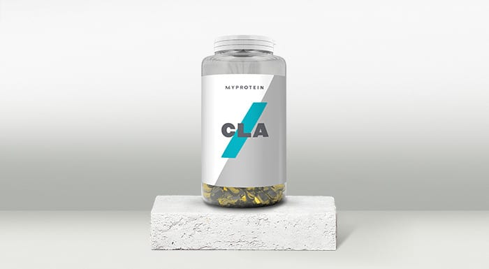 Pot of CLA tablets