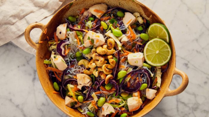 Low-Carb Thai Chicken Noodle Salad