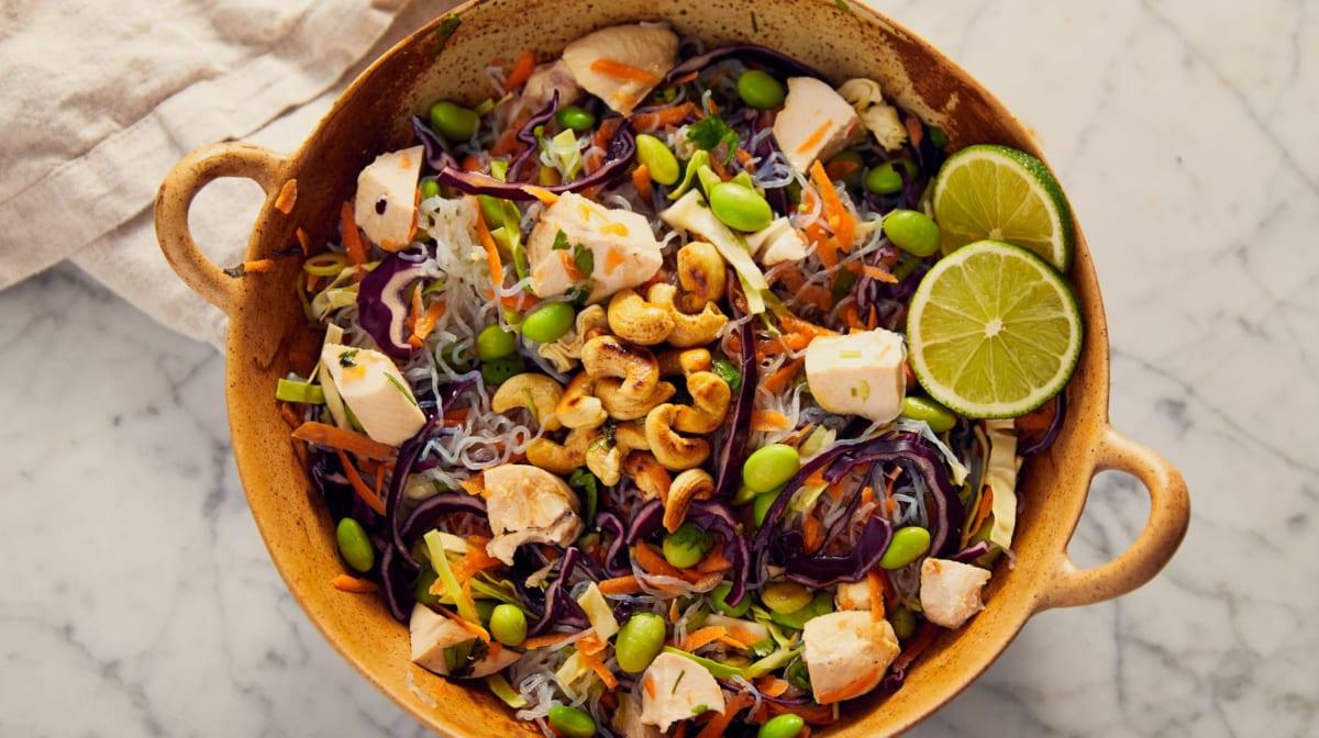 Low-Carb Thai Chicken Noodle Salad