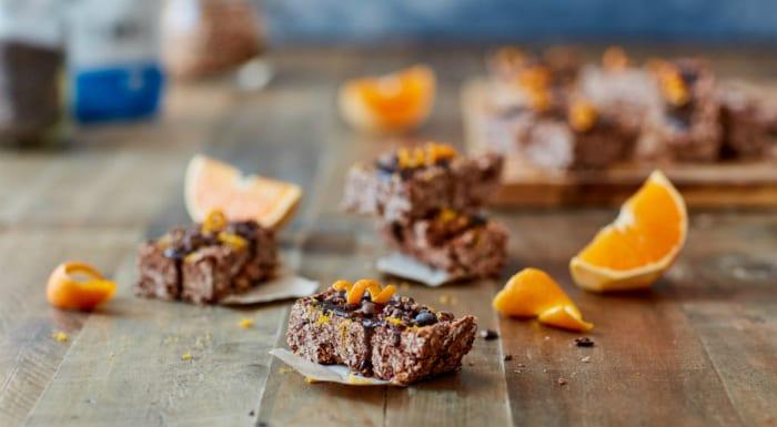 vegan chocolate orange bar