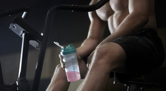 guy drinking BCAAs