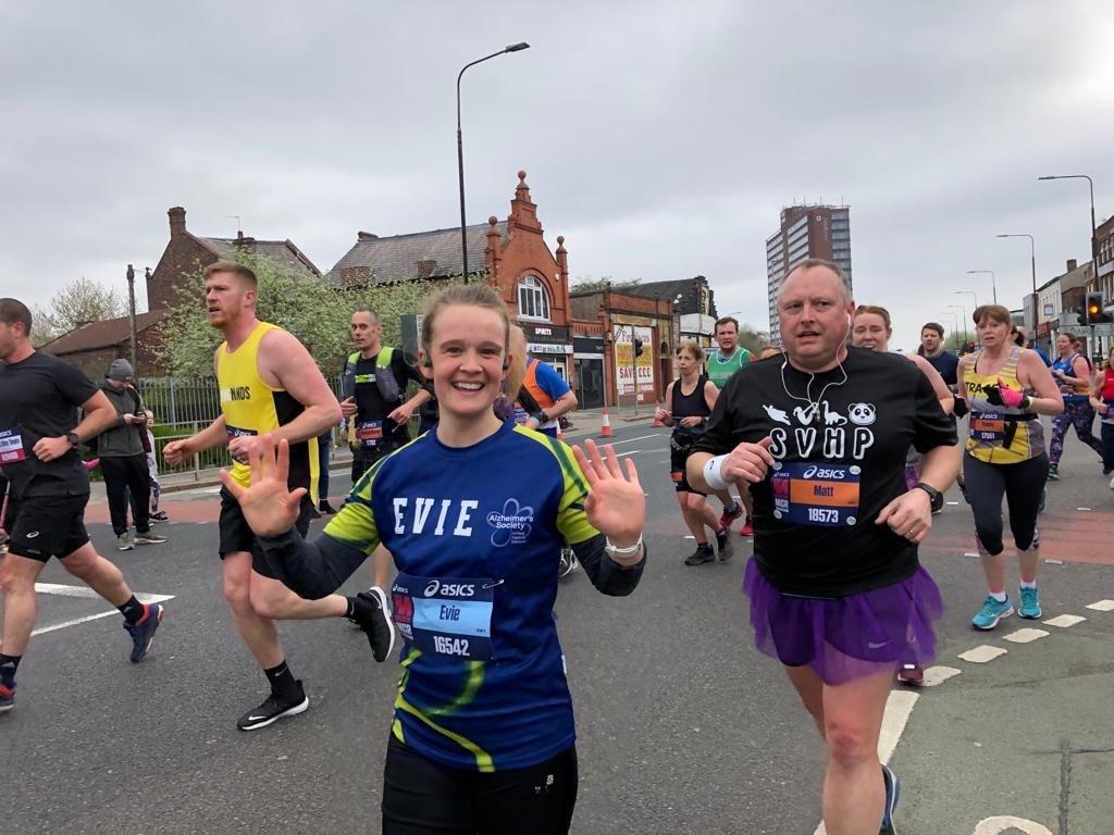 girl at marathon start line