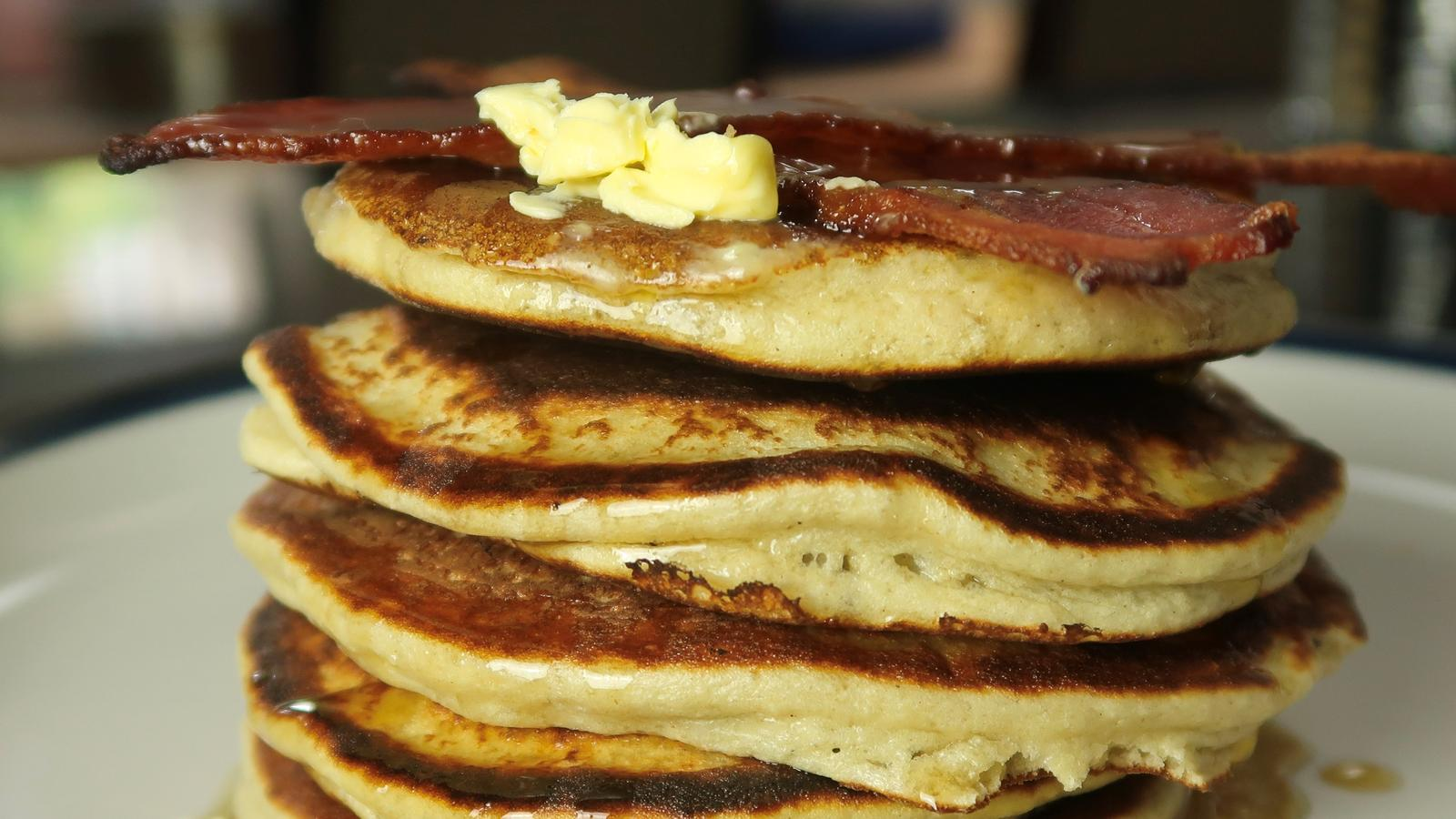 American-Style Pancakes | Fluffy Protein Pancake Stack