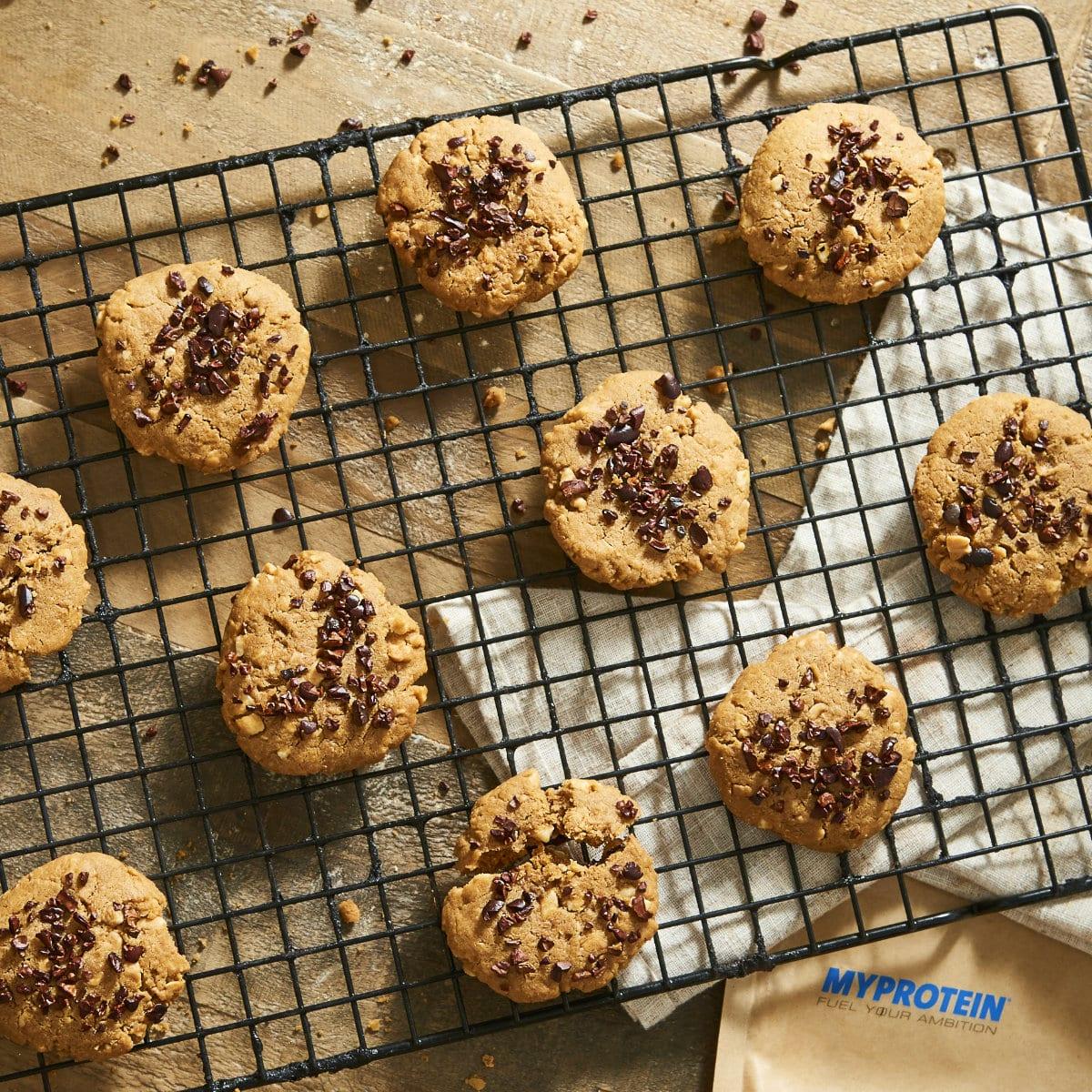 liszt nélküli mogyoróvajas cookie, keksz