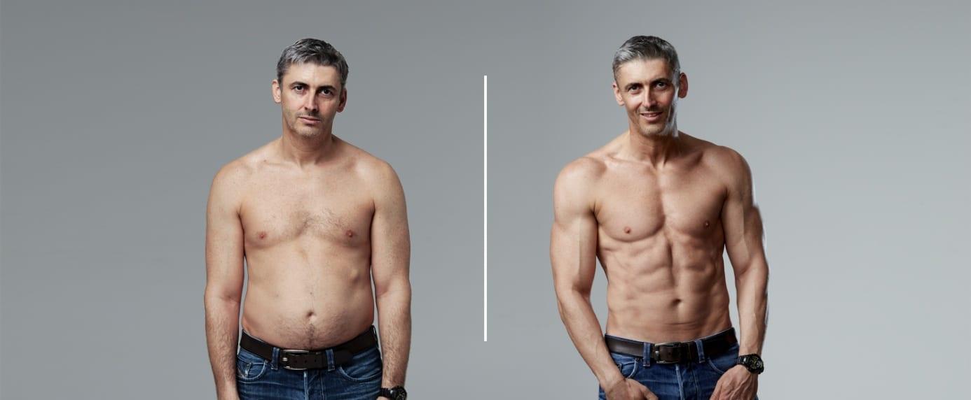 Ben Jackson before-after Myprotein