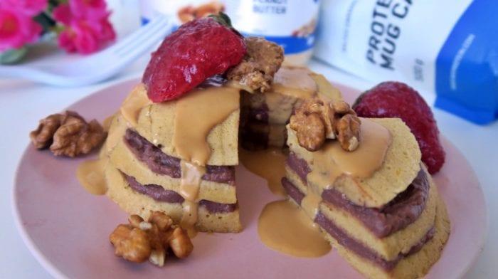 Fehérjés Bögrés süti torta