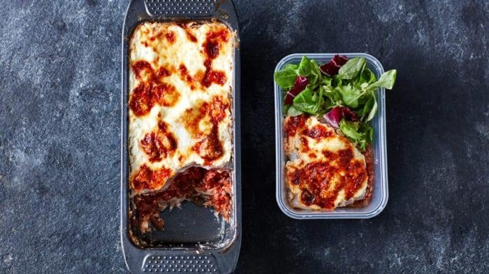 Kenyérformás Lasagne recept | 3 adagos Low-Carb előre főzés